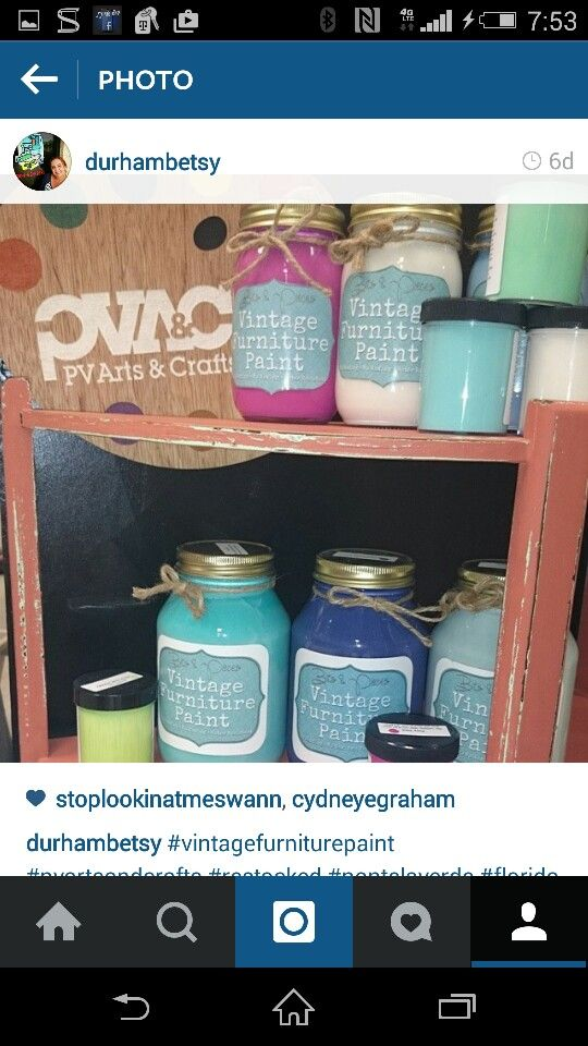 VINTAGE FURNITURE PAINT @ PV ARTS AND CRAFTS On Solana Rd 904 473 5171