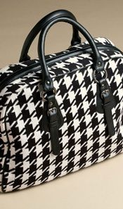 LUXURY COTTON KNIT BAG - BLACK HOUNDSTOOTH