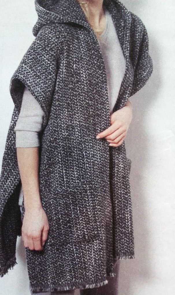 Patroon omslagdoek groot met capuchon en zakken - Hobby - Hobby