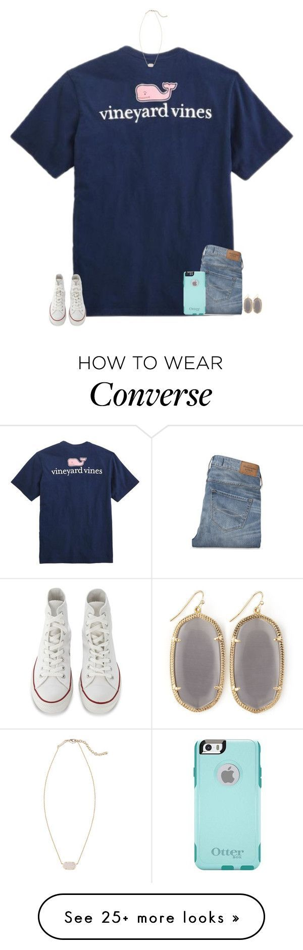 """""""TAYLORS NEW VIDEO IN 3 MINUTES"""" by secfashion13 on Polyvore featuring Mode, Vineyard Vines, Converse, Abercrombie & Fitch, OtterBox und Kendra Scott"""