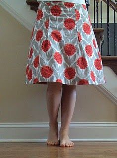"Skirt from a pattern in the book ""Free Style Handmade Bags & Skirts"""