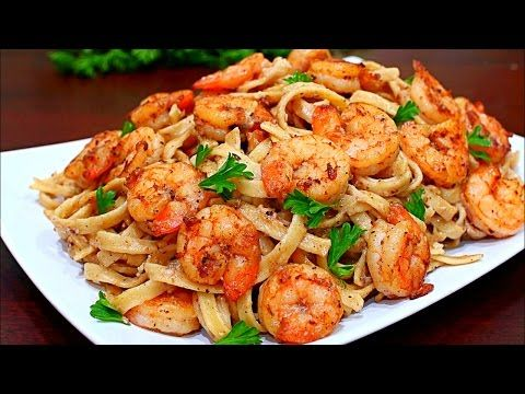 Skinny Cajun Shrimp Alfredo Pasta Recipe - Healthy Alfredo pasta - YouTube