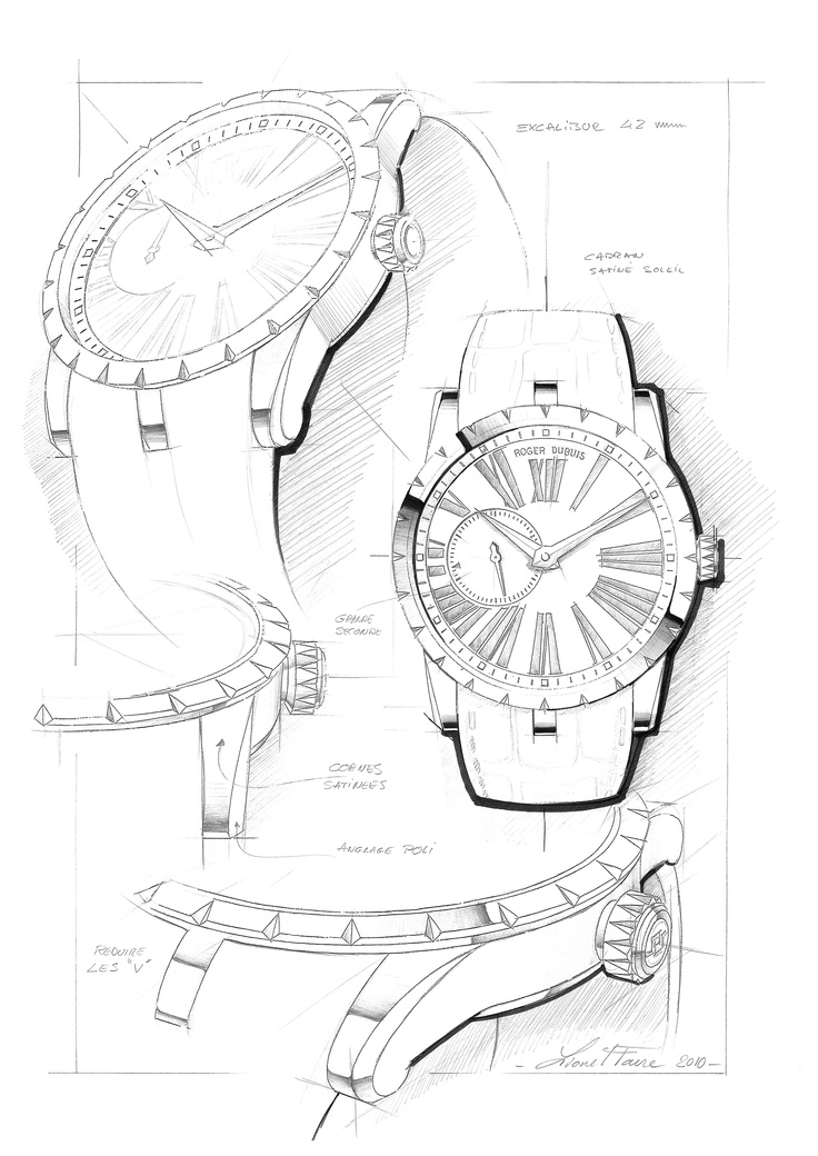 Design sketch for the Excalibur 42 collection