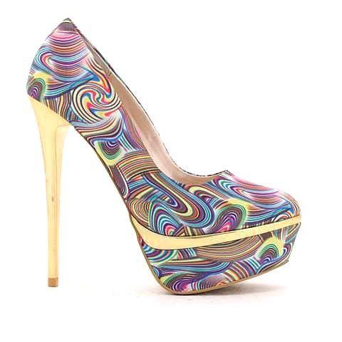 OLYMPIC 2 heel in rainbow. #mybetsonBetts #BettsRaceDayReady #BettsShoes #shoes #heels