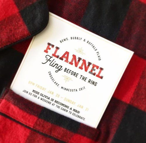 A flannel themed weekend in the woods! DIY lumberjack party essentials.