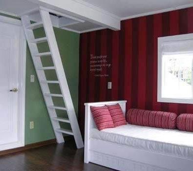 Stairs to attic loft.: Attic Loft, Loft Bedrooms, Loft Stairs, Attic Spaces, Stairs Ladder, Attic Stairs Solutions, Attic Ideas, Closet, Bedrooms Ideas