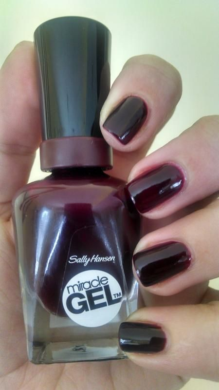 Sally Hansen Miracle Gel Nail Polish in Wine Stock   Nails ...