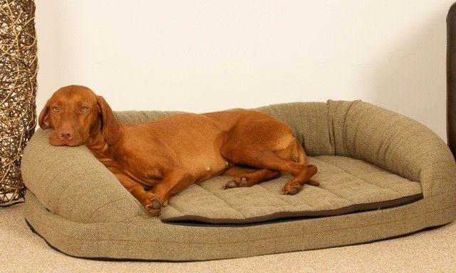 Dog Bed with Memory Foam Base Premier Tweed