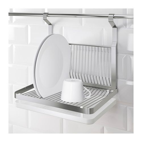 GRUNDTAL Dish drainer IKEA Can be hung on GRUNDTAL rail to free up space on the countertop.