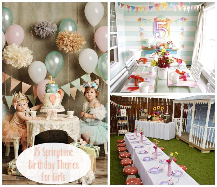 springtime birthday party themes  girls birthdays