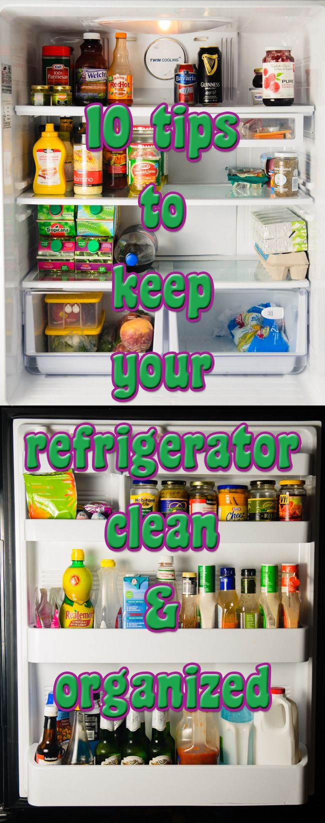 Best 25 refrigerator cleaning ideas on pinterest for How to keep kitchen clean and organized