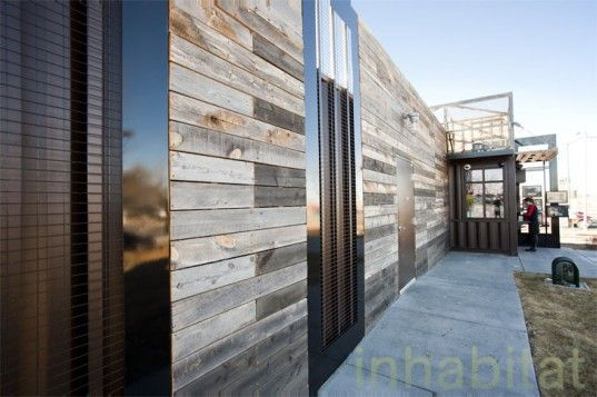 Shipping Container Cladding Wood Side Recycled Ships