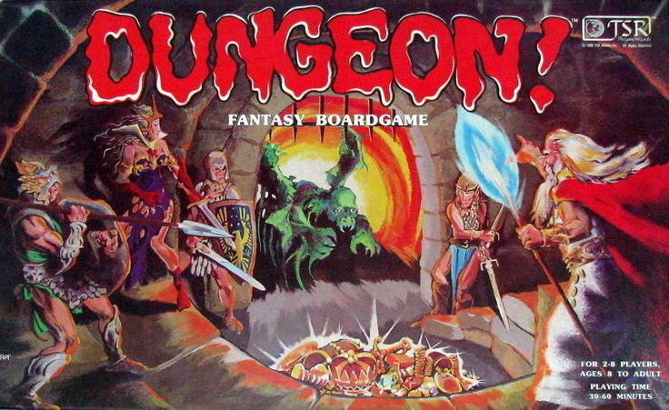 TSR Dungeon Fantasy Board Game 1981 Family Adventure Game Monsters Treasure 100% #TSR
