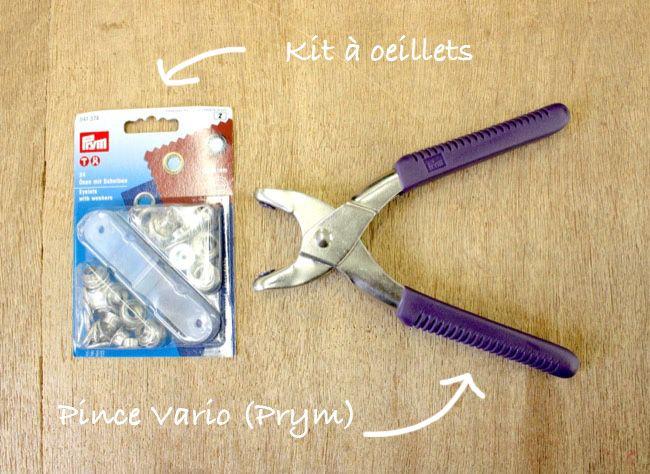 Apprenez à poser des œillets à l'aide d'une pince Vario de Prym : un vrai jeu d'enfant !