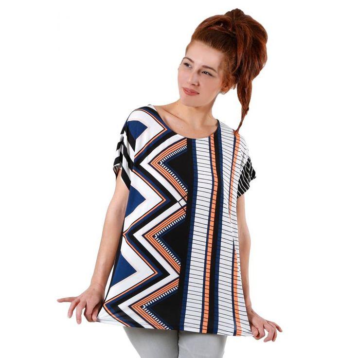 FRANSA Γυναικεία μπλούζα, γεωμετρικά σχέδια