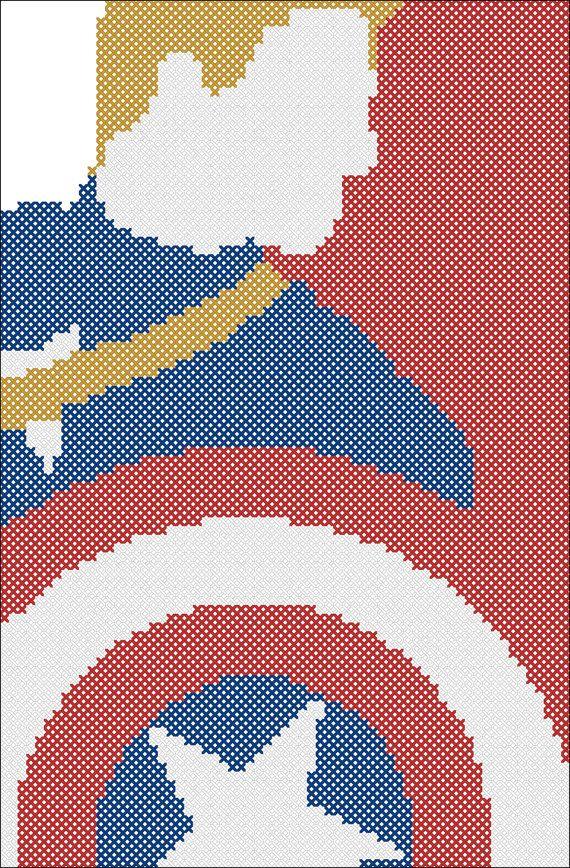 BOGO FREE Cross stitch pattern    Captain by Rainbowstitchcross