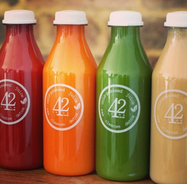 Raw, cold pressed juice cleanse with 42 Juice
