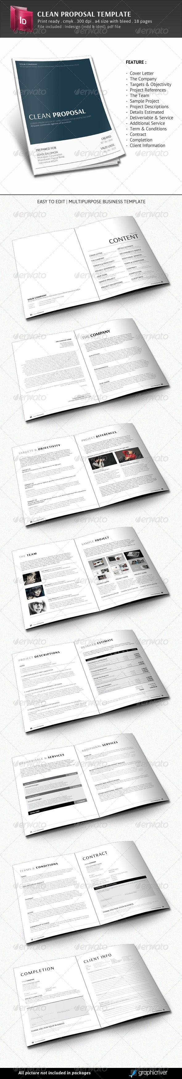 Clean Proposal Template 122 best Business proposals