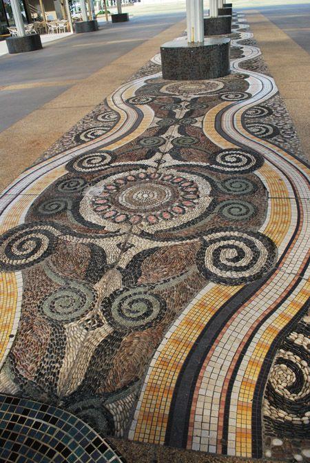 Mosaic floor at a shopping mall in Malacca, Malaysia. Photo: simpleandgayforward.wordpress.com