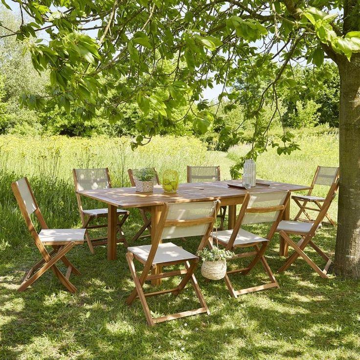 Table De Jardin En Bois D Acacia Fsc Avec Rallonge 8 A 10 Places