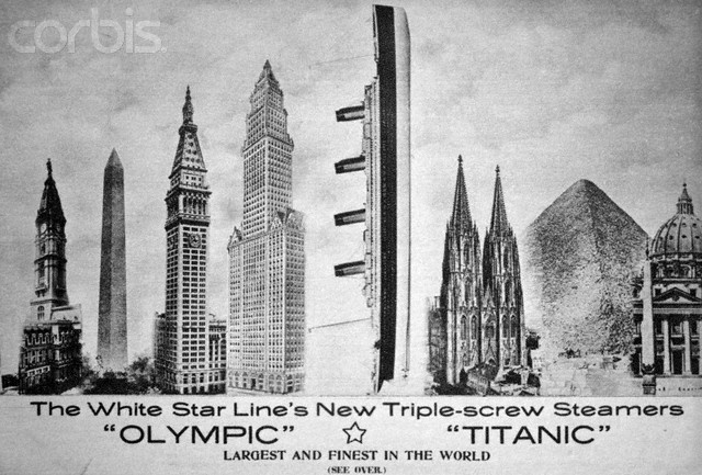 Le Titanic vs. other man-made wonders.