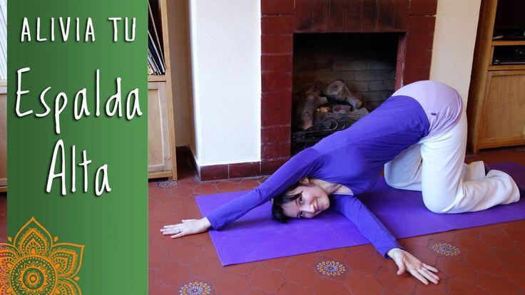 Clase de Yoga, alivia contracturas en Espalda alta -PuntodeYoga- Nivel P...