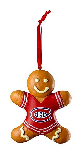 Montreal Canadiens Habs Hockey Christmas Ornament Gingerbread Man.