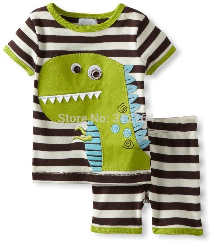 >> Click to Buy << [Bosudhsou] Kids Summer Clothing Set Baby Boy's Clothing Suit Children's Dinosaur/Cow/Tigger/Crab Design T shirts+Casual Shorts #Affiliate
