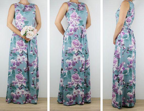 Bridesmaid dress Women floral maxi dress  Australian Made
