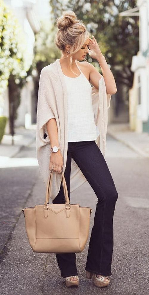 Great summer to fall transition outfit! Fashion for the Modern Mom... - Street Fashion