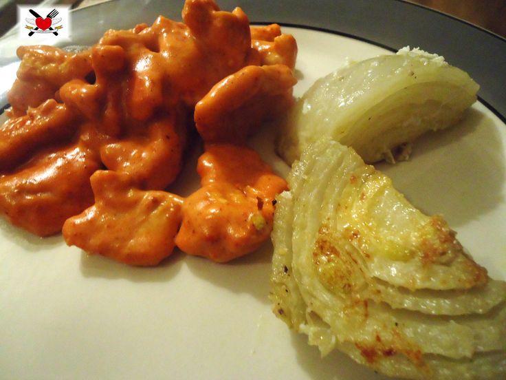 Straccetti di pollo in salsa cremosa piccante