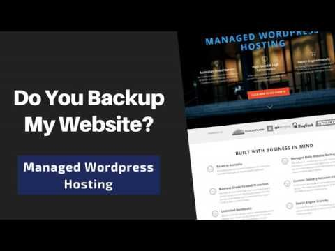 This is a commonly asked question about our High Performance, Search Engine Friendly Australian-based Managed Wordpress Service. More information on this ser...