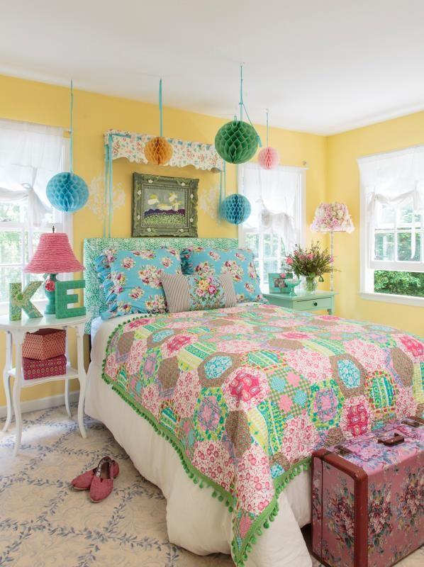 girls dream a soft and sweet bedroom using sis boom fabrics