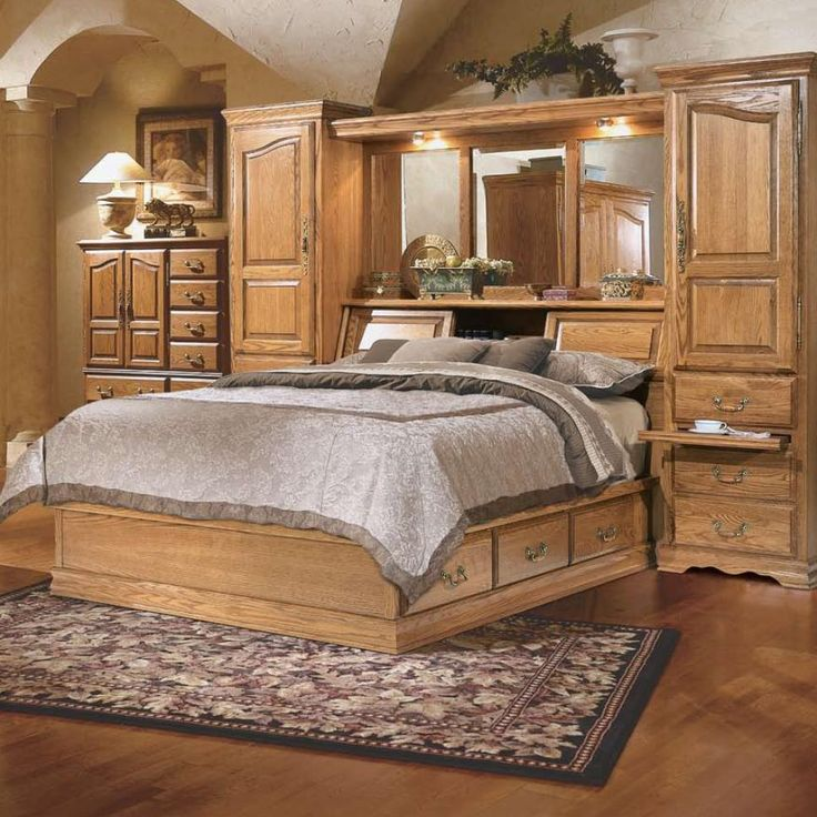 Master piece queen pier bed group by furniture traditions for Master bedroom furniture