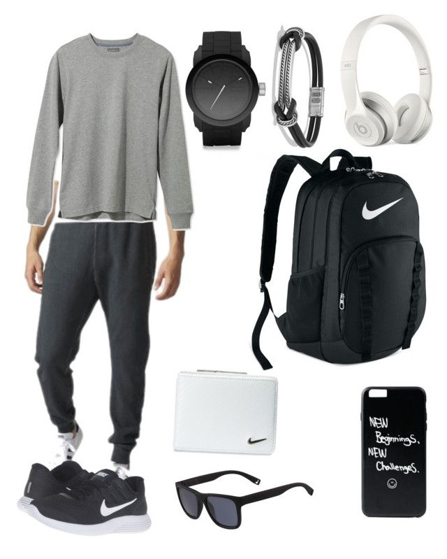 """Athletic look 💪🏽"" by amitino on Polyvore featuring Lacoste, NIKE, Diesel, adidas, L.L.Bean, David Yurman, Beats by Dr. Dre, men's fashion and menswear"