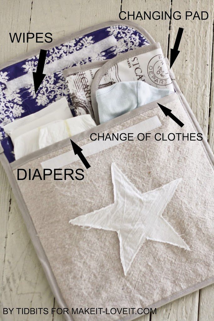 How to Make a Portable Changing Pad for Baby - Tidbits by Cami