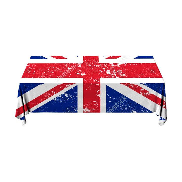 Tafelkleed Britse vlag | Fleur je keuken op met dit weerbestendige tafelkleed bestaande uit geweven linnen met PVC.   #tafelkleed #keukentextiel #keuken #kleed #pvc #print #opdruk #tafel #weerbestendig #vlag #brits #engeland #grootbrittannie #verenigdkoningkrijk
