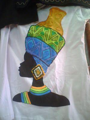 IMAGENS AFRICANAS PARA PINTURA EM CAMISETA