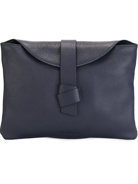 Shop Jil Sander Navy strap detail clutch  in O' from the world's best independent boutiques at farfetch.com. Shop 400 boutiques at one address.