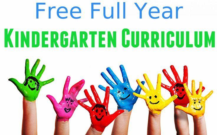 Free Kindergarten Home School Curriculum