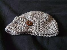 Free pattern: Newsboy crochet hat