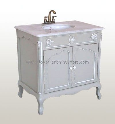 Awesome Websites Bathroom Vanity Sink on Antique French Light Grey Sink Vanity Unit