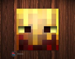 Adesivo Caixa Acrílica Blaze Minecraft