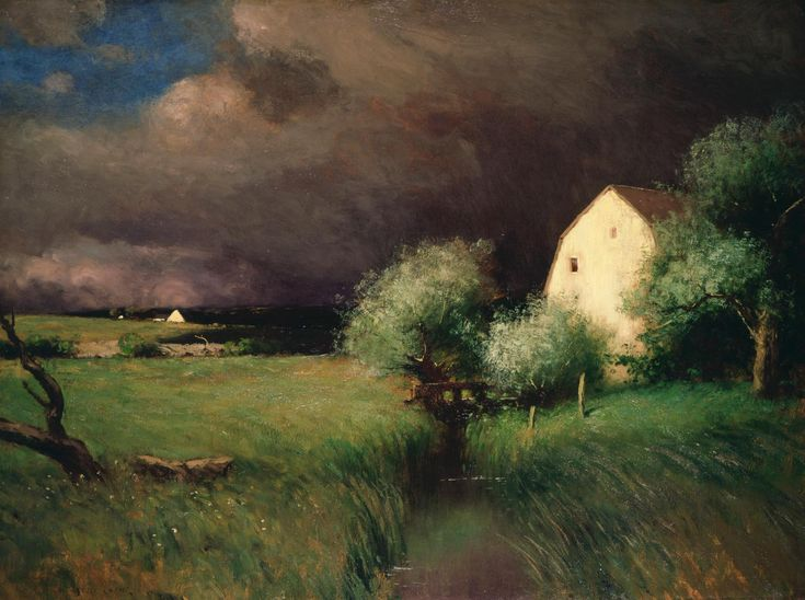 Quot Impending Storm Quot Robert Bruce Crane Oil On Canvas 30 1