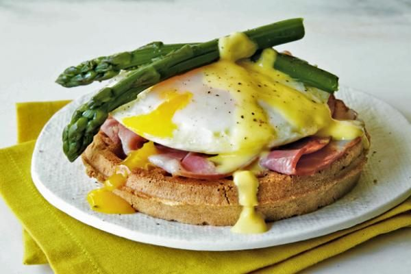 Eggs Benedict Waffle   KitchenDaily.com