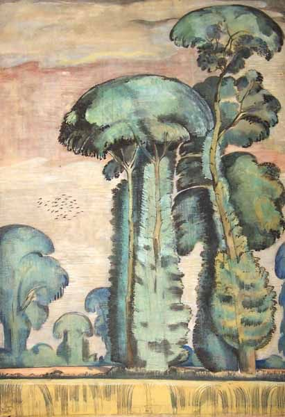 Paul Nash - The Elms -  1911/12