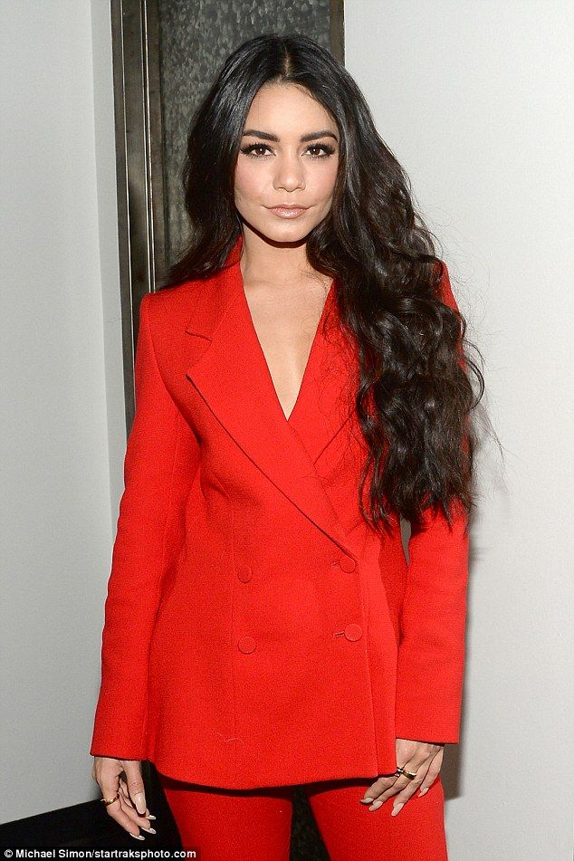 Long hair, don't care: Vanessa's sweeping tresses added an extra degree of glamour to her look