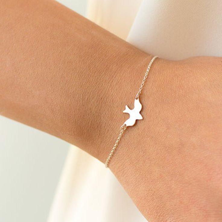 Tiny Peace Dove Bracelet Soaring Bird Bracelet //Price: $0.00 & FREE Shipping //     #hoodie #dress #beautiful #style
