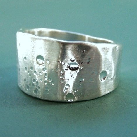 Sterling Silver Ring  Wide Tapered Band  Shoreline by esdesigns, $60.00