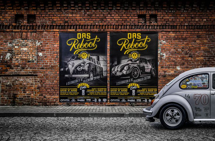Street Posters. Event material from the 2017 New Zealand Volkswagen Nationals in Wellington.